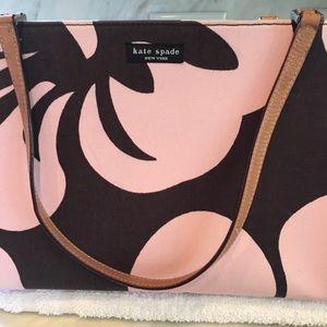 kate spade Bags - Kate Spade pink/brown flower print tote